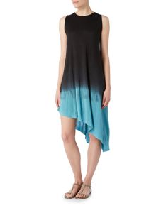 Label Lab Dip dye asymmetric swing jersey dress
