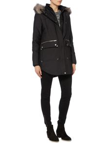 Label Lab Sporty Double Front Faux Fur Parka