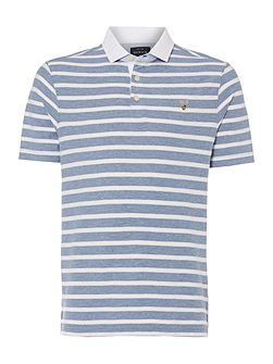 Hubbard Textured Stripe Polo