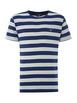 Bar Stripe Crew Neck Short Sleeve T-shirt