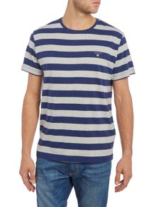 Gant Bar Stripe Crew Neck Short Sleeve T-shirt