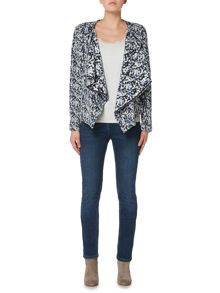 Maison De Nimes Knitted waterfall jacket