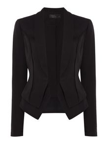 Label Lab Edge to edge chiffon trim jacket