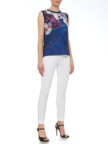Pied a Terre Printed woven and knitted vest top