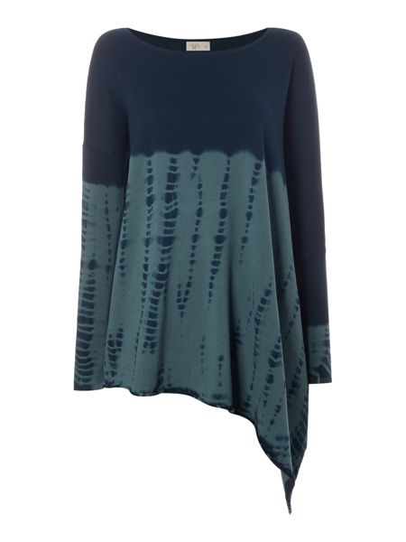 Label Lab Dip dye asymmetric knit jumper