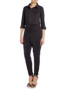 Lipsy Long Sleeve Elastic Waist Jumpsuit