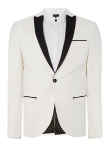Label Lab Harvey SB1 closed peak contrast lapel blazer