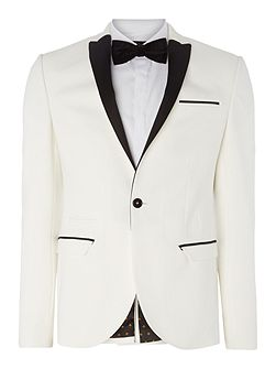Harvey SB1 closed peak contrast lapel blazer