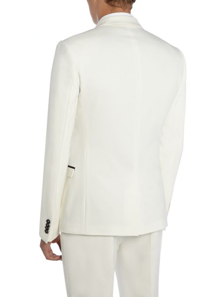 Label Lab Harvey SB1 closed  contrast lapel skinny blazer