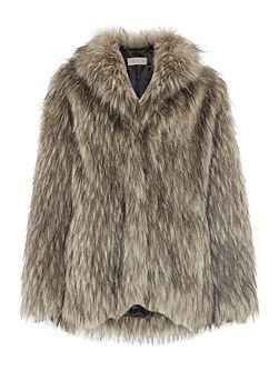 Faux fur grey coat