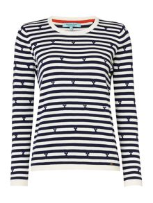 Dickins & Jones Bobbie Bow & Stripe Jumper