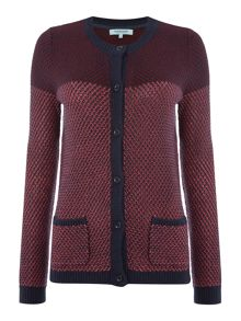 Dickins & Jones Berry Button Front Cardigan