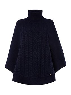 Cara Cable Knit Poncho