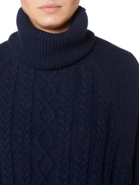 Dickins & Jones Cara Cable Knit Poncho