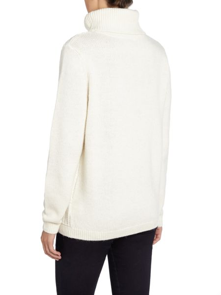 Dickins & Jones Chloe Chunky Cable Roll Neck Jumper