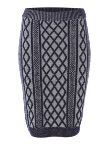 Dickins & Jones Chunky Cable Pencil Skirt