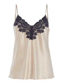 Ginia Ginia silk cami with lace