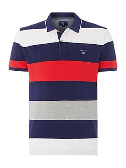 Men's Gant Barstripe Short Sleeve Polo