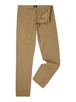 Straight Leg Micro Twill Trousers