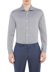 Corsivo Ilario textured woven shirt with cutaway collar