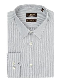 Mancio italian fabric textured spot shirt