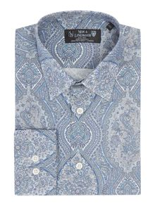 New & Lingwood Langham large paisley print shirt