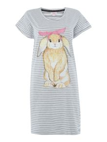 Therapy Bunny Stripe Tee