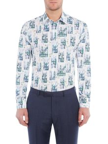 New & Lingwood Regent print shirt