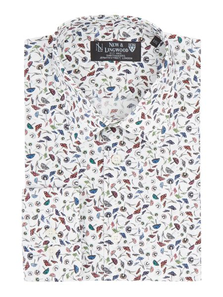 New & Lingwood Hinkley mushroom print shirt