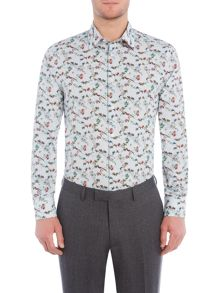 New & Lingwood Botanica print shirt
