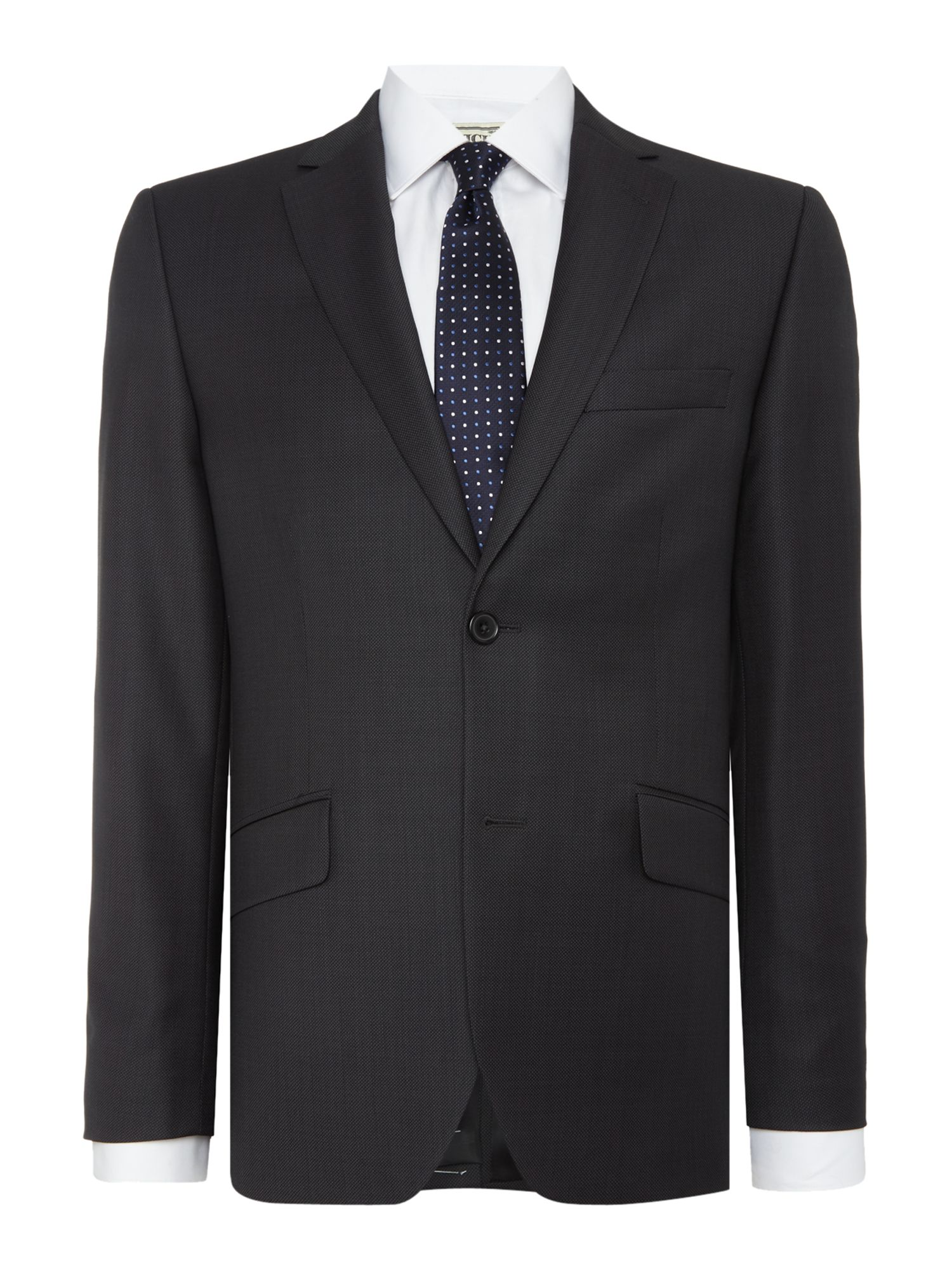 Howick Tailored Men's Howick Tailored Darby Birdseye Slim Fit Suit Jacket, Charcoal