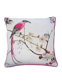 Flight of the Orient Feather Cushion