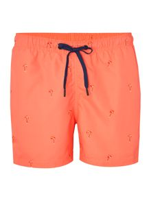 Bjorn Borg Mid length palm print swim shorts