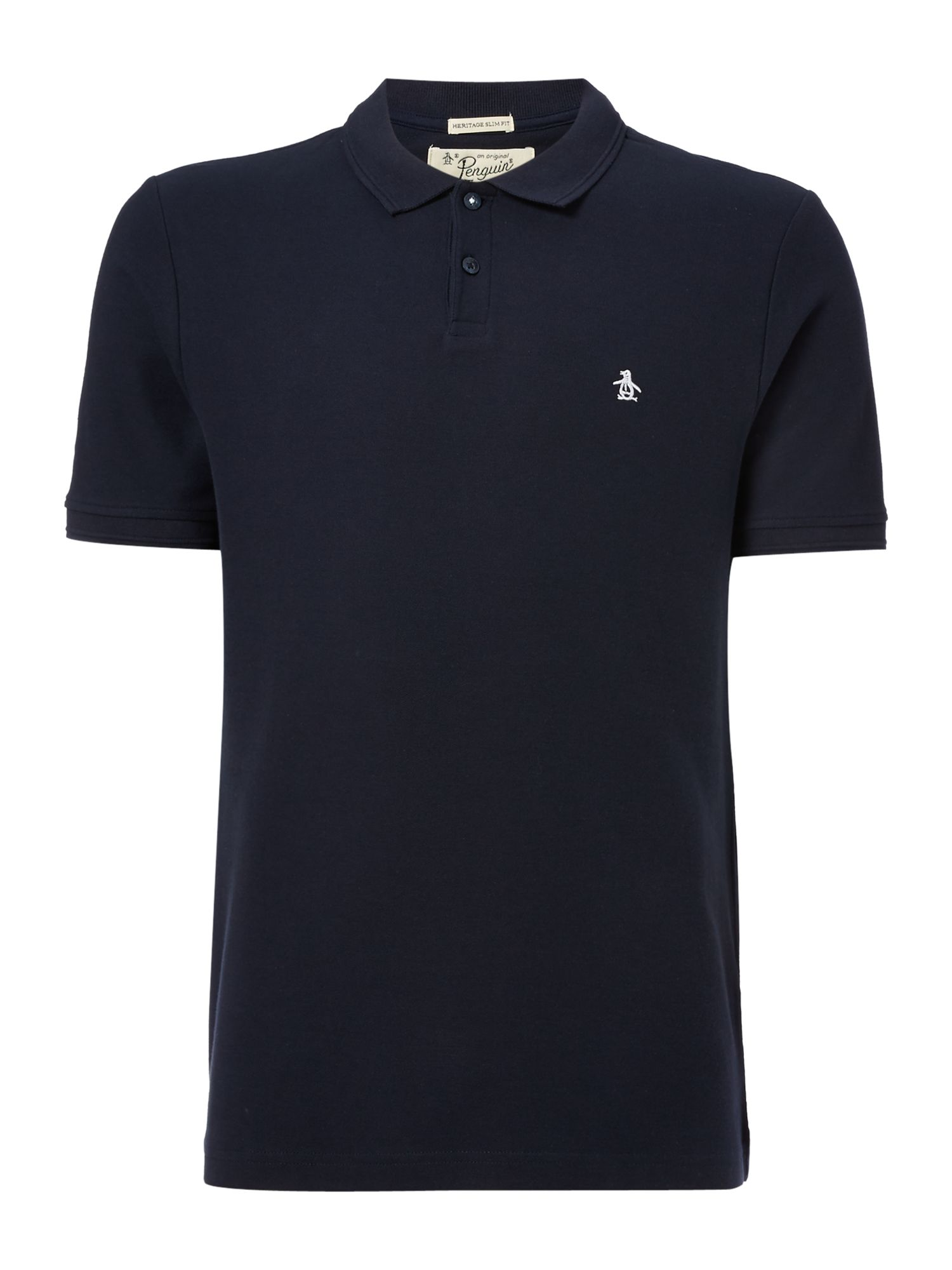 Men's Original Penguin Cotton Raised-Rib short sleeve polo, Blue
