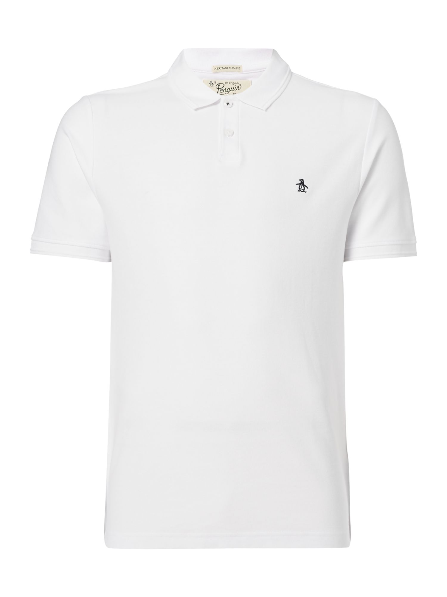Men's Original Penguin Cotton Raised-Rib short sleeve polo, White