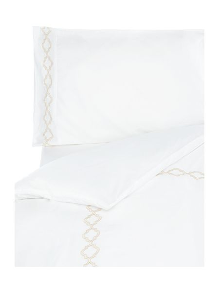 Luxury Hotel Collection 400 thread count classic embroidery duvet set