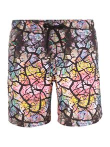 Bjorn Borg Mid Length Drylands Cracked Print Swim Shorts