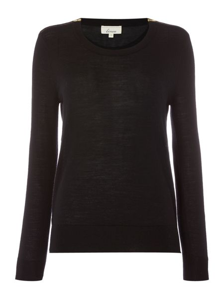 Linea Merino zip shoulder jumper