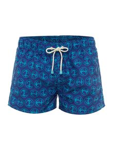 Oiler & Boiler Tuckernuck shortie anchor print swim shorts