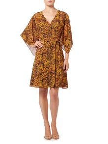 Biba Leopard printed wrap dress