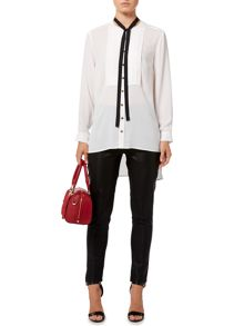 Biba Removable tie lux blouse