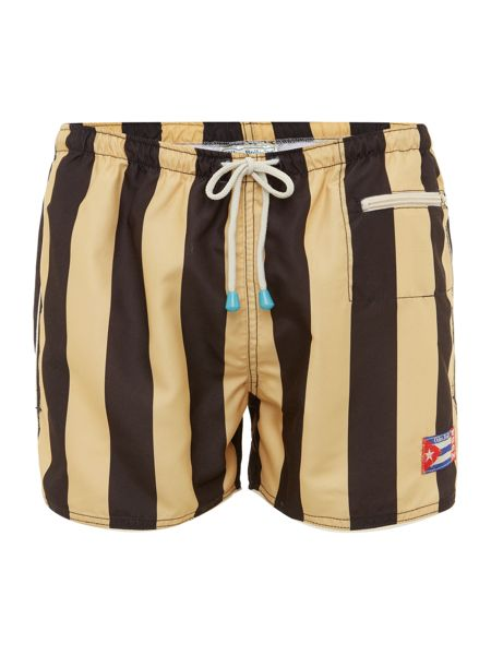 Oiler & Boiler Champion stripe east hampton swim shorts