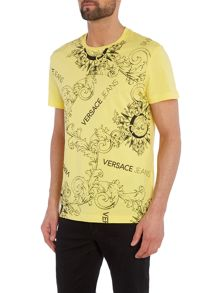 Versace Jeans Regular fit all over print crew neck t shirt