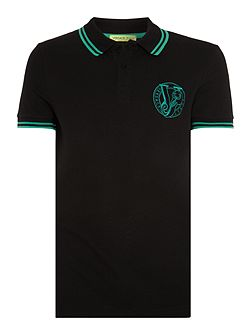 Slim fit embroidered logo tipped polo shirt