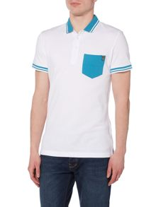 Versace Jeans Slim fit pocket tipped polo shirt
