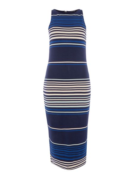 Pied a Terre Ponte stripe bodycon dress