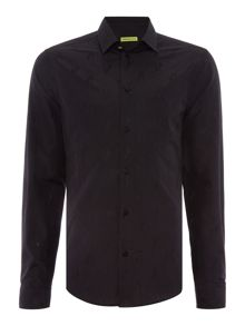 Versace Jeans Easy slim fit long sleeve tonal logo shirt