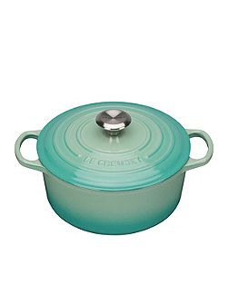 Signature Cast Iron Round Casserole 24cm CoolMint