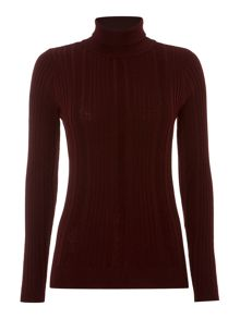 Linea Rib detail roll neck jumper