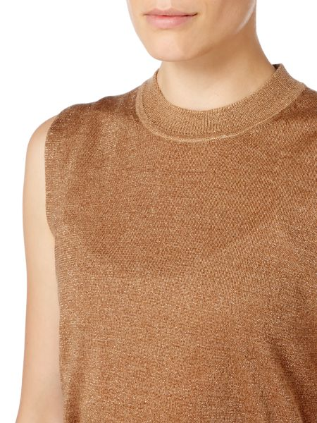 Linea Metallic Knitted Tank